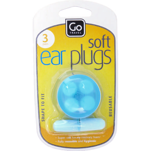 Soft Ear Plugs 3 Pairs