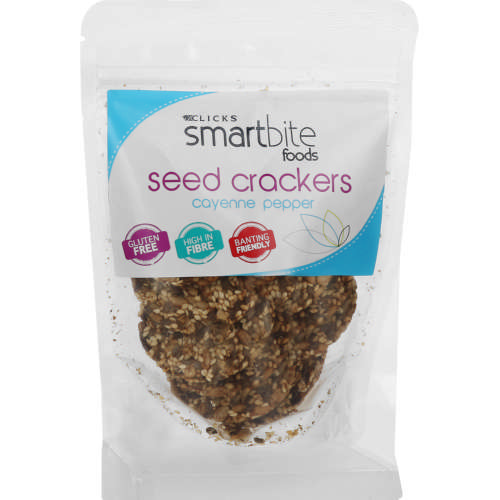 Smartbite Foods Cayenne Pepper Seed Crackers 100g