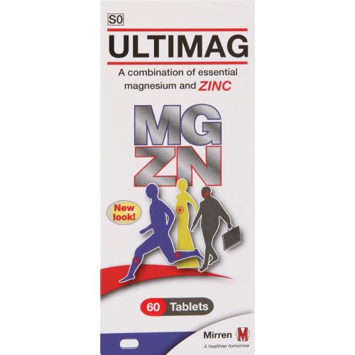 Ultimag Magnesium Zinc 60 Tablets Clicks