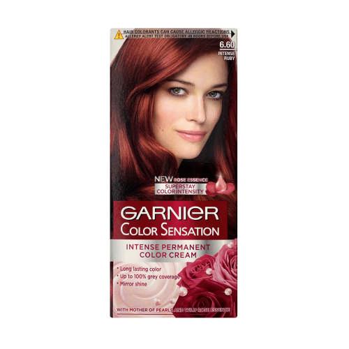 Garnier Color Sensation Intense Permanent Color Cream Intense Ruby 6 60 Clicks