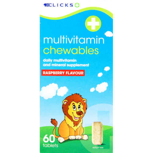 Multivitamin Chewables Raspberry 60 Tablets