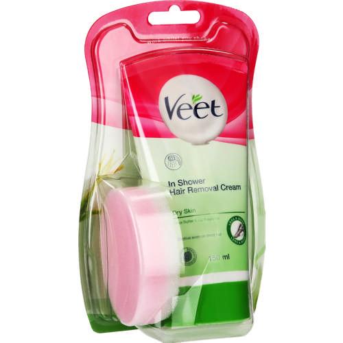 Veet In Shower Hair Removal Cream Dry Skin 150ml Clicks