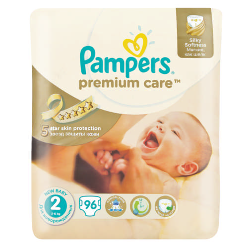 Premium Care New Baby Jumbo Pack Size 2 96 Disposable Nappies