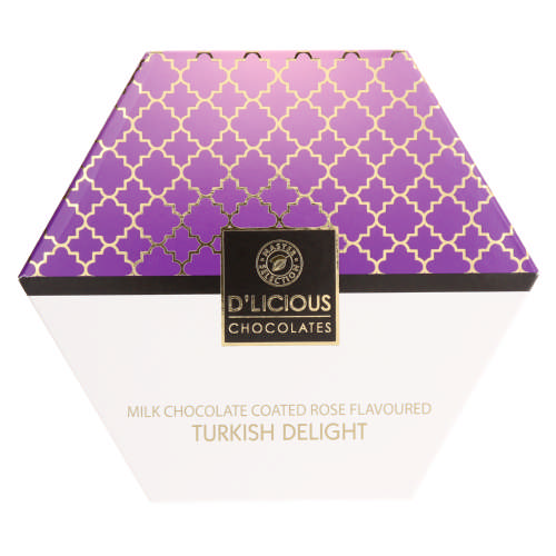 Milk Chocolate Coated Rose-Flavoured Turkish Delights 255g