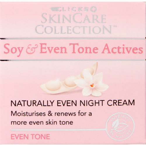 Skincare Collection Soy & Even Tone Actives Naturally Even Night Cream 50ml