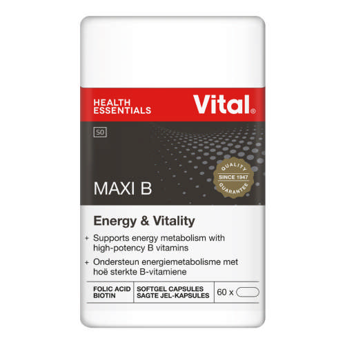 Maxi B With Vitamin C Stress & Energy Support 60 Capsules