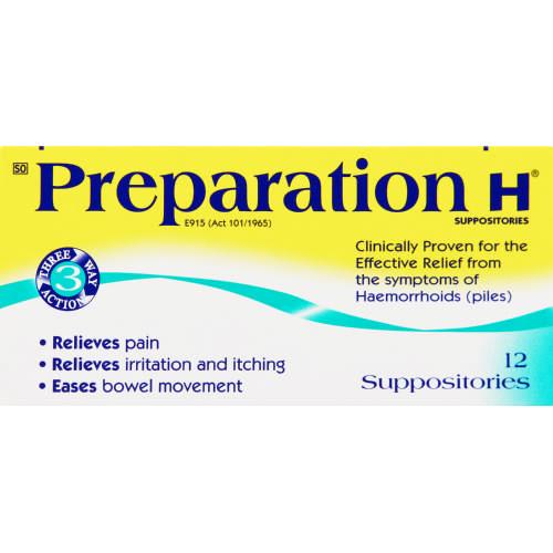 Preparation H Suppositories 12 Suppositories Clicks