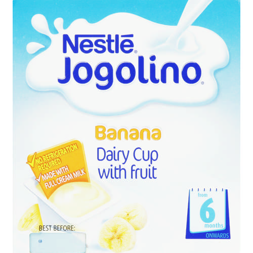 Jogolino Dairy Cup With Fruit Banana 4x 100g