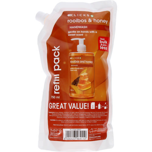 Handwash Refill Pack Rooibos & Honey 750ml