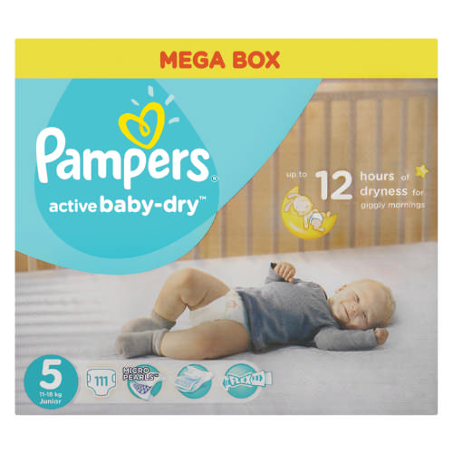 Active Baby-Dry Disposable Nappies 111 Nappies