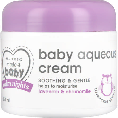 Made 4 Baby Calm Nights Baby Aqueous Cream Lavender & Chamomile 350ml