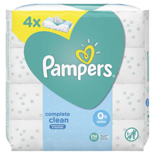 Complete Clean Baby Wipes 4 x 64 Wipes