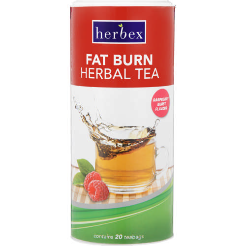 Fat Burn Tea Rasberry Burst 20 Tea Bags