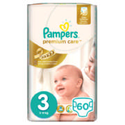 Premium Care New Baby Disposable Nappies Size 3 60 Nappies