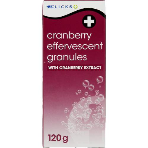 Clicks Cranberry Effervescent Granules 120g Clicks