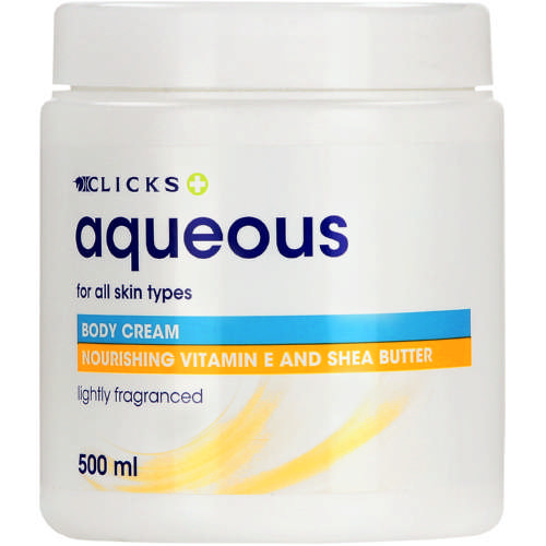Aqueous Cream Vitamin E Shea Butter 500ml