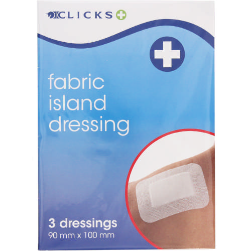Fabric Island Dressing 90mm x 100mm 3 Pack