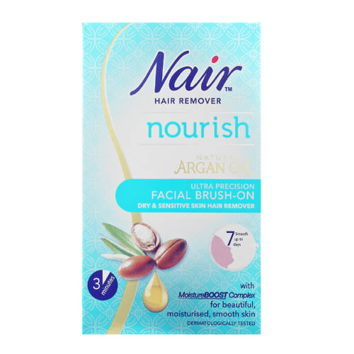 Nair Argan Oil Facial Brush On Hair Removal Cream Clicks