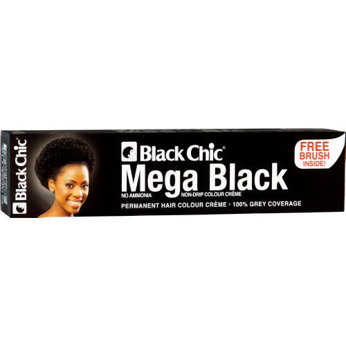 Black Chic Permanent Hair Colour Creme Mega Black 28ml Clicks