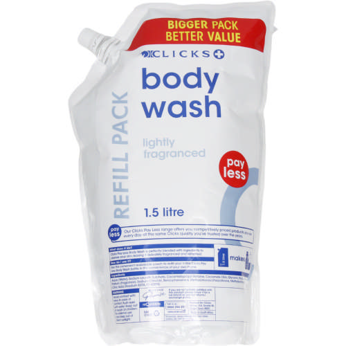 Pay Less Body Wash Refill 1.5 Litres