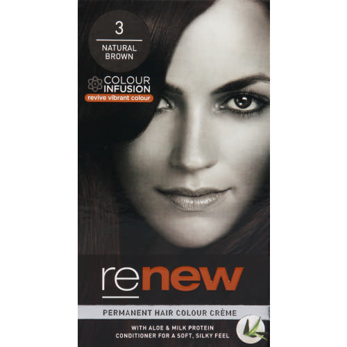 Colour Infusion Permanent Hair Colour Creme Natural Brown 3