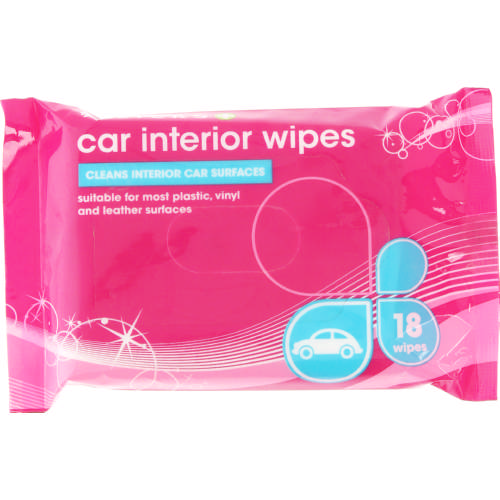 Car Interior Wipes 18 Wipes