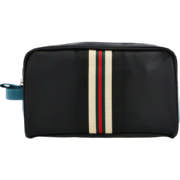 Men's Black,Green & Red Toiletry Bag Extra Large