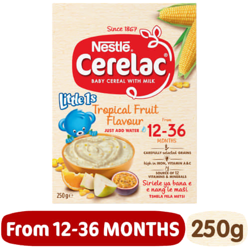 Cerelac Little 1s Cereal With Milk Tropical Fruit 250g
