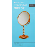 Acrylic Ball Standing Mirror Rose Gold