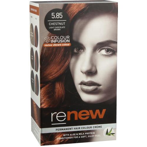 Permanent Hair Colour Creme Chestnut Light Chocolate Brown 5 85 Test