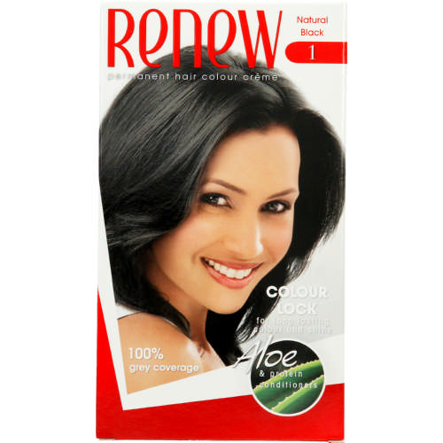 Permanent Hair Colour Creme Natural Black 1 Application