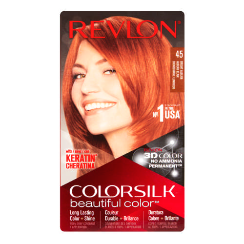 ColorSilk Permanent Hair Color Bright Auburn 45