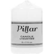 Pillar Candle Unscented 5 x 7.5cm