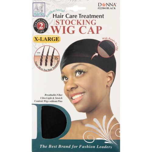 Donna Stocking Wig Cap Black Extra Large 2 Pack - Clicks 5bf8b72336b