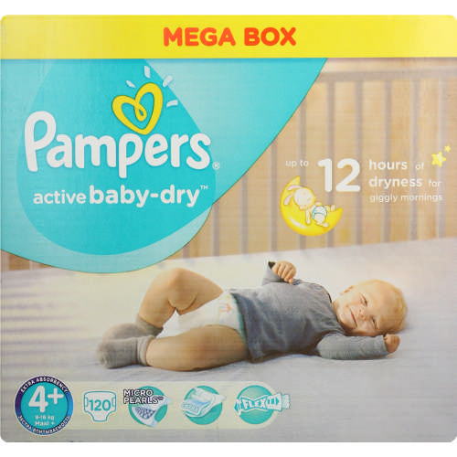 Active Baby-Dry Disposable Nappies 120 Nappies