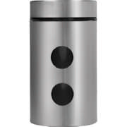 Glass And Stainless Steel Dot Canister Medium
