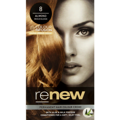 Colour Infusion Permanent Hair Colour Creme Almond Medium Blond 8