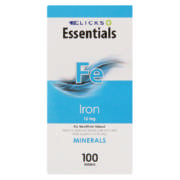 Healthbasics Iron 15mg Mineral Supplement 100 Tablets