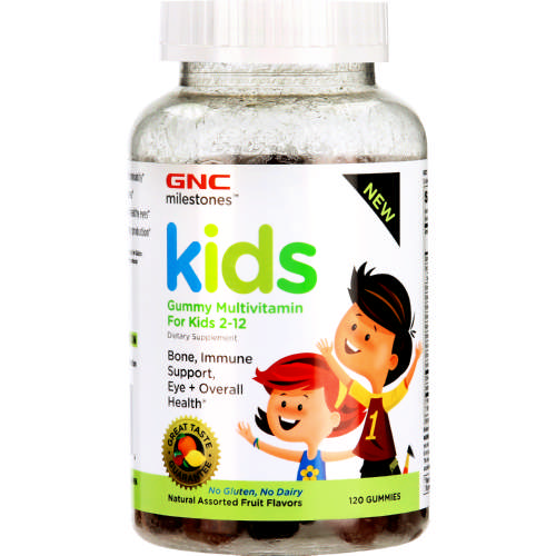 Milestones Gummy Multivitamin For Kids 2-12 120 Gummies