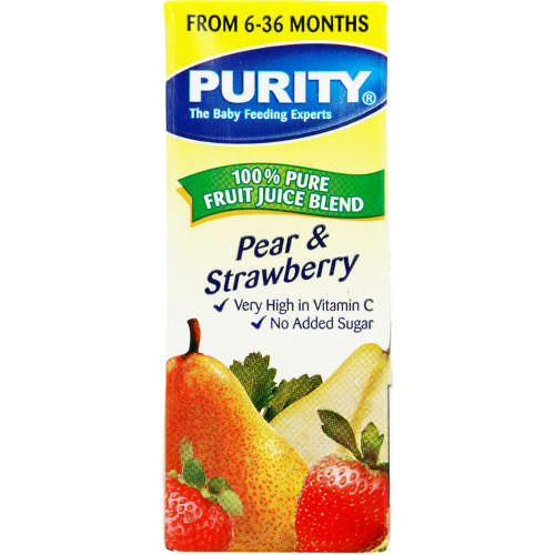 100% Pure Fruit Juice Blend Pear & Strawberry 200ml