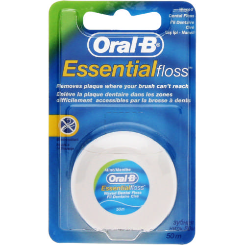 Essential Floss Waxed Dental Floss Mint 50m