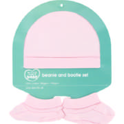 Made 4 Baby Beanie & Bootie Set Pink One Size Fits All