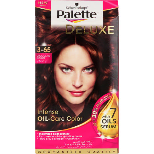 Palette Deluxe Intensive Oil Care Colour Chocolate Brown 1 Application