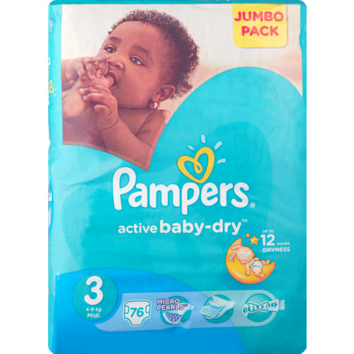 Active Baby-Dry Size 3 76 Nappies
