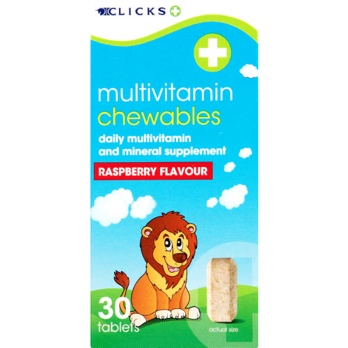 Multivitamin Chewables Raspberry 30 Tablets