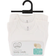 Made 4 Baby 2 Pack Sleeveless Body Vests 0-3 Months