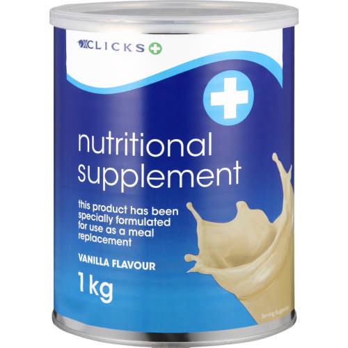 Clicks Nutritional Supplement Vanilla 1kg Clicks