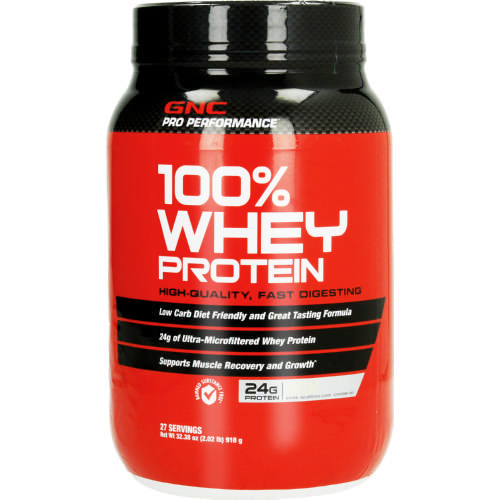 Gnc Pro Performance 100 Whey Protein Vanilla Cream 918g Clicks