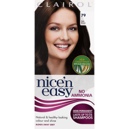Clairol Nicen Easy Demi Permanent Hair Colour Dark Brown Clicks