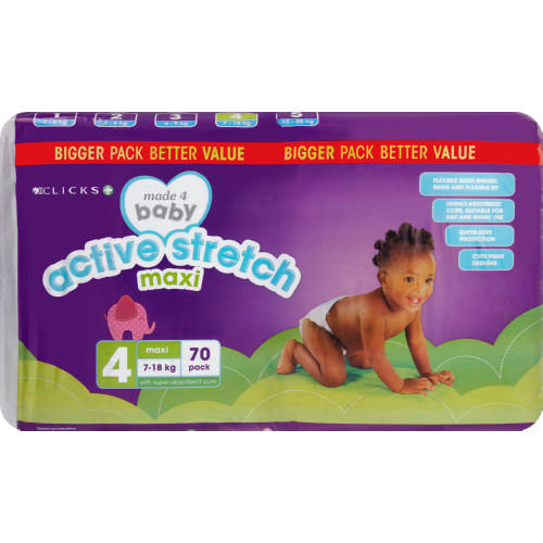 Made 4 Baby Active Stretch Size 4 Maxi 70 Pack